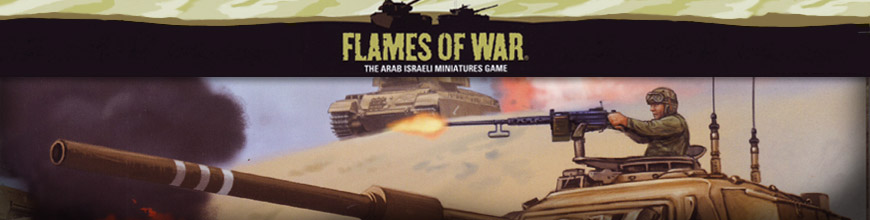 Shop for Flames of War - Arab-Israeli War - Rules, Miniatures and Other Gaming Products for Tabletop Wargaming at Dark Horse Hobbies - Today!