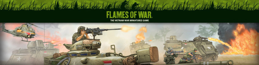 Shop for Flames of War - Vietnam War - Rules, Miniatures and Other Gaming Products for Tabletop Wargaming at Dark Horse Hobbies - Today!