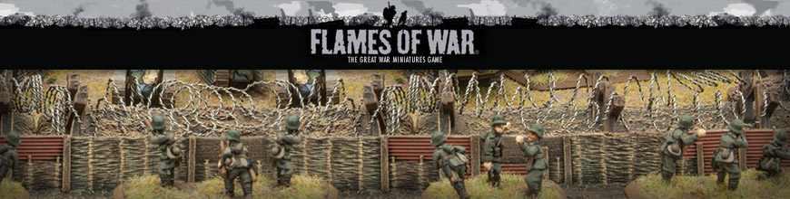 Shop for Flames of War Rules and Other Products for World War 1 (Great War) Tabletop Gaming Miniatures at Dark Horse Hobbies - Today!