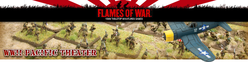 Shop for Flames of War World War 2 Pacific Theater Tabletop Miniatures Game Models and Supplies at Dark Horse Hobbies - Today!