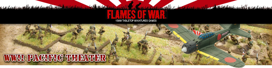 Shop for Flames of War World War 2 Pacific Theater Japanese Forces - 15mm Scale Gaming Miniatures at Dark Horse Hobbies - Today!