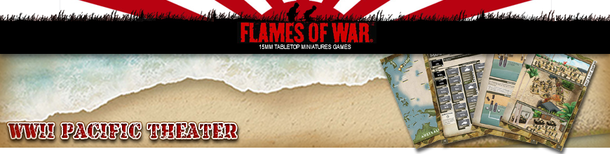 Shop for Flames of War - World War 2 Pacific Theater - 15mm Scale Gaming Rulebooks and Accessories at Dark Horse Hobbies - Today!