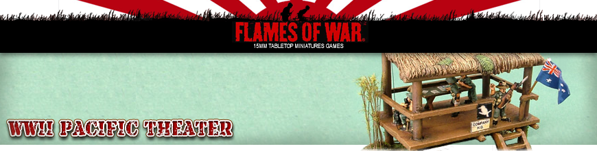 Shop for Flames of War - World War 2 Pacific Theater - 15mm Scale Gaming Scenery and Terrain at Dark Horse Hobbies - Today!