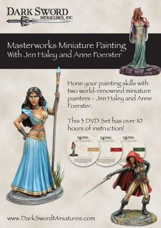 Dark Sword Masterworks Miniature Painting with Jen Haley and Anne Foerster DVD Set
