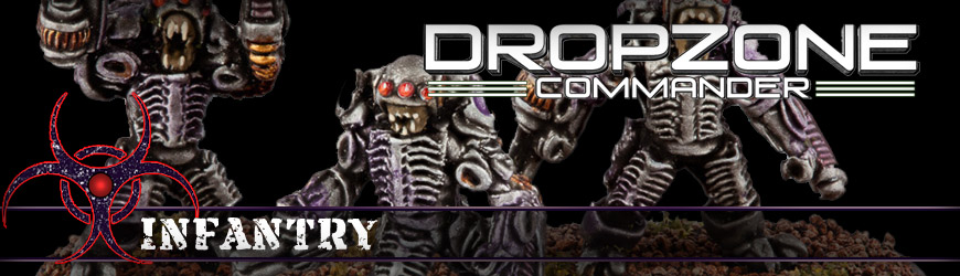 Shop Dark Horse Hobbies for all of your Dropzone Commander Scourge Infantry Miniatures and Save - Today!
