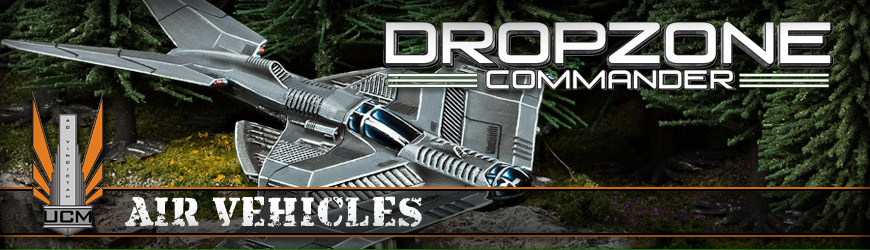 Shop Dark Horse Hobbies for all of your Dropzone Commander UCM Air Vehicle Miniatures and Save - Today!