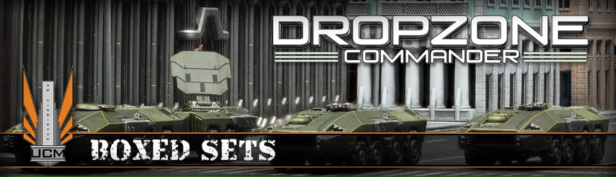Shop Dark Horse Hobbies for all of your Dropzone Commander UCM Boxed Sets and Save - Today!