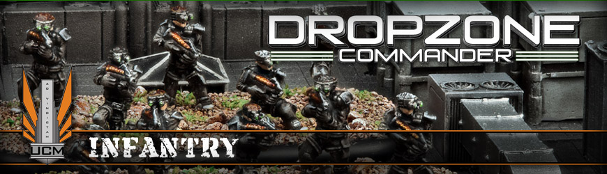 Shop Dark Horse Hobbies for all of your Dropzone Commander UCM Infantry Miniatures and Save - Today!