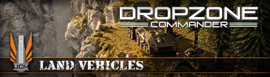 Shop Dark Horse Hobbies for all of your Dropzone Commander UCM Land Vehicle Miniatures and Save - Today!