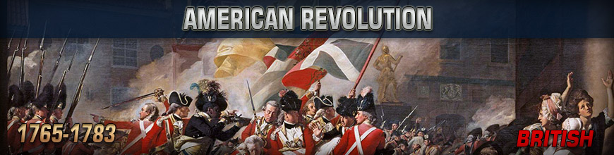 Shop for 10mm American Revolution British Historical Wargame Miniatures at Dark Horse Hobbies - Today!