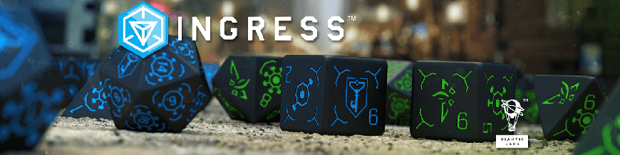 Shop Dark Horse Hobbies for Ingress Dice Sets by Q-Workshop - Today!