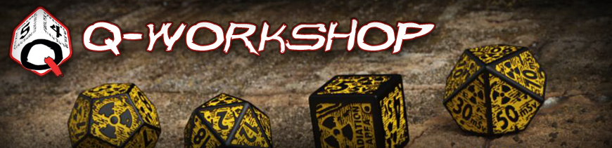 Shop Dark Horse Hobbies for all your Q-Workshop Dice Bags and Gaming Accessories... Today!