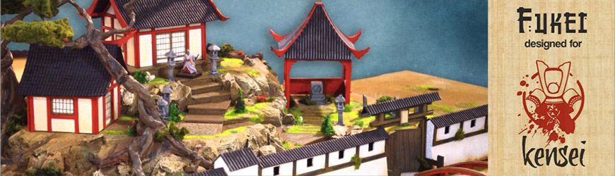 Shop for 25mm Scale Feudal Japanese Buildings and Scenery for use with Kensei Tabletop Miniatures Game at Dark Horse Hobbies... Today!