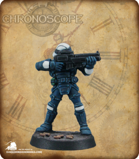 Chronoscope (NOVA Corp): NOVA Corporate Security Guard (painted by Michael Genet)