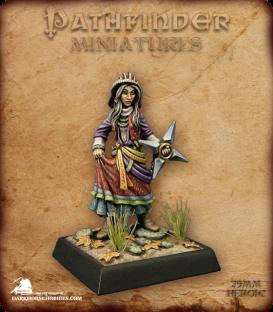 Pathfinder Miniatures: Koya Mvashti (painted by Derek Schubert)