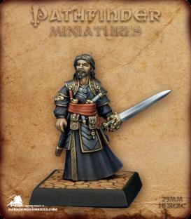 Pathfinder Miniatures: Salim Ghadafar (painted by Derek Schubert)