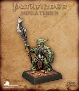 Pathfinder Miniatures: Staunton Vhane, Dwarf Anti-Paladin (painted by Derek Schubert)