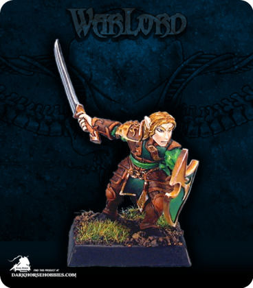 Warlord: Elves - Meridh, Elven Sergeant (painted by John Bonnot)