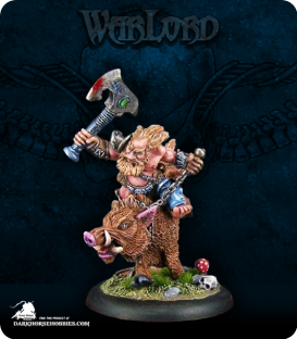 Warlord: Dwarves - Durthen, Boarmaster Berserker (painted by Gerlan)