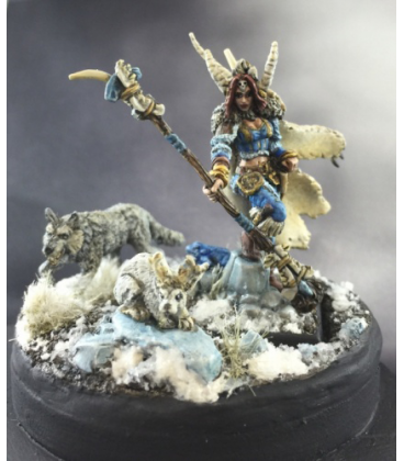 Warlord: Icingstead - Nadezhda the White, Ice Sorceress (painted by D. Sinclair)