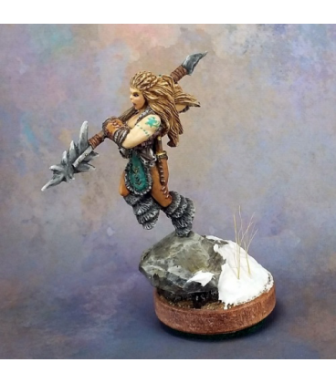 Warlord: Icingstead - Kaya the Reaper, Barbarian Sergeant (painted by Kharsin)