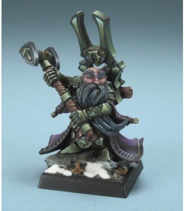 Warlord: Dwarves - Herryk Aesir, Warlord/Cleric (painted by Philip Esterle)