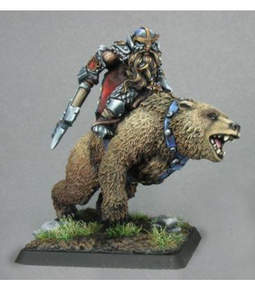 Warlord: Dwarves - Thorvald, Dwarven Bear Rider (painted by Derek Schubert)