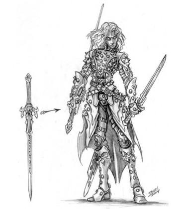 Dark Heaven Legends: Torie Doman, Dark Elf (concept art)