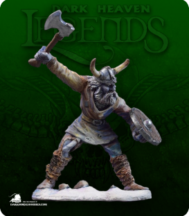 Dark Heaven Legends: Frorigh, Frost Giant Warrior (painted by Pingo)