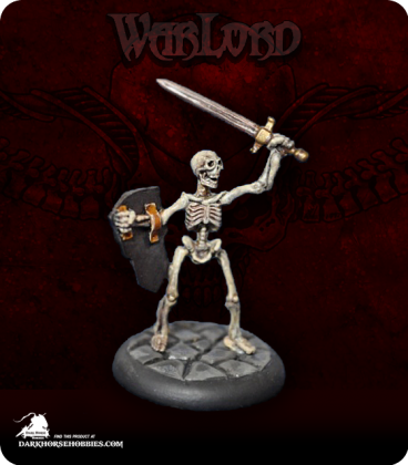 Warlord: Necropolis - Skeletal Warrior (painted by S. McCafferty)