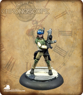 Chronoscope: Tess McFadden, Mercenary (painted by Katie Summer)