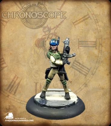 Chronoscope: Tess McFadden, Mercenary (painted by Katie Summer)