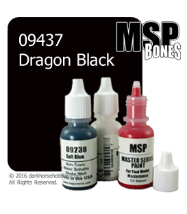 Master Series Paint: Bones Colors - 09437 Dragon Black (1/2 oz)