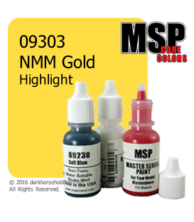 Master Series Paint: Core Colors - 09303 NMM Gold Highlight (1/2 oz)