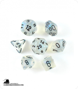 Chessex: Borealis Aquerple/Black Polyhedral dice set