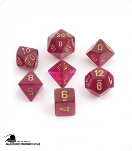 Chessex: Borealis Magenta/Gold Polyhedral dice set