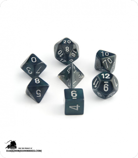 Chessex: Borealis Smoke/Silver Polyhedral dice set