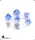 Chessex: Nebula Dark Blue/White Polyhedral dice set (7)