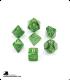 Chessex: Vortex Green/Gold Polyhedral dice set (7)