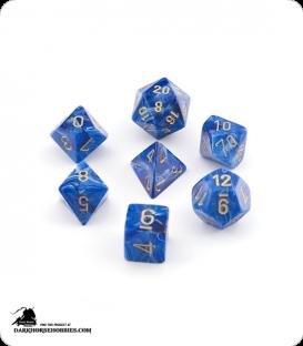 Chessex: Vortex Blue/Gold Polyhedral dice set