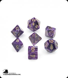 Chessex: Vortex Purple/Gold Polyhedral dice set
