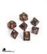 Chessex: Scarab Blue Blood/Gold Polyhedral dice set (7)