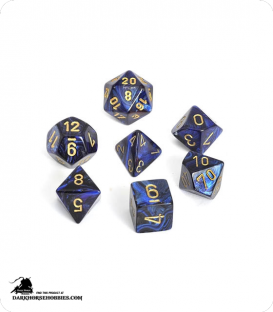 Chessex: Scarab Royal Blue/Gold Polyhedral dice set