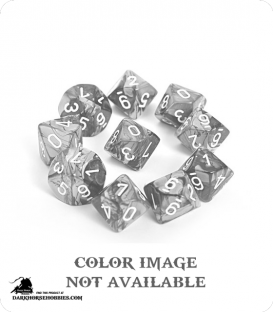 Chessex: Gemini Copper Steel/White d10 dice set