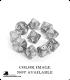 Chessex: Gemini Copper Steel/White d10 dice set (10)