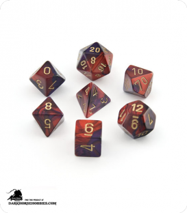 Chessex: Gemini Purple Red/Gold Polyhedral dice set