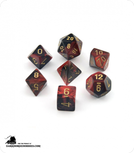 Chessex: Gemini Black Red/Gold Polyhedral dice set