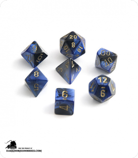 Chessex: Gemini Black Blue/Gold Polyhedral dice set