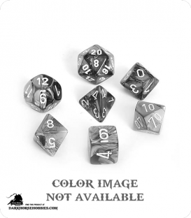 Chessex: Gemini Black Copper/White Polyhedral dice set