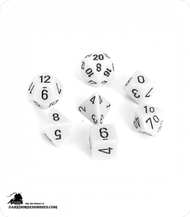 Chessex: Opaque White/Black Polyhedral dice set